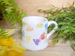 strawberry rainbow hearts kids mug