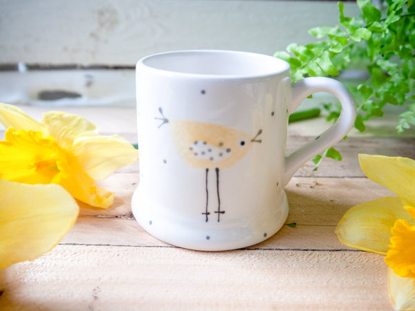 rita retro chicken kids mug