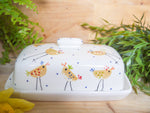 cheryl the cheeky chicken butter dish