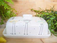 rita retro chicken butter dish