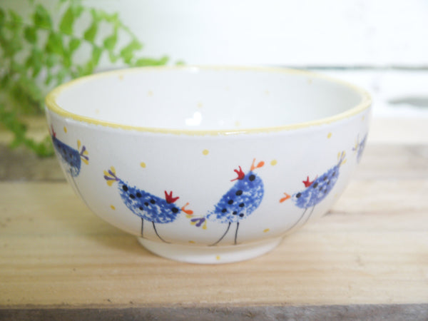barney blue chicken cereal bowl
