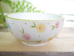 country cottage roses cereal bowl