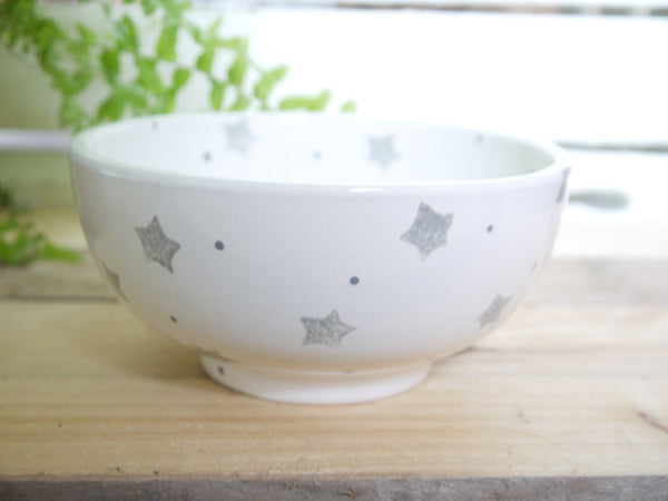 starburst grey cereal bowl