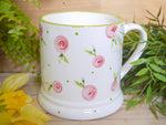 country cottage pink roses daddy mug