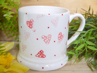 strawberry pink hearts daddy mug