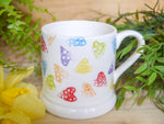 strawberry rainbow hearts daddy mug