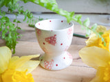 strawberry pink hearts egg cup