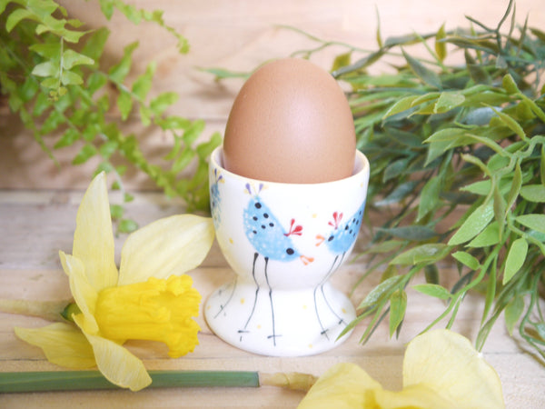 barney blue chicken egg cup