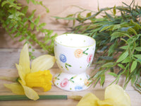 country cottage roses egg cup