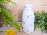 starburst grey milk bottle vase