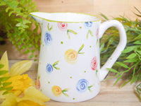 country cottage roses medium jug
