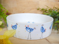 barney blue chicken large pet bowl