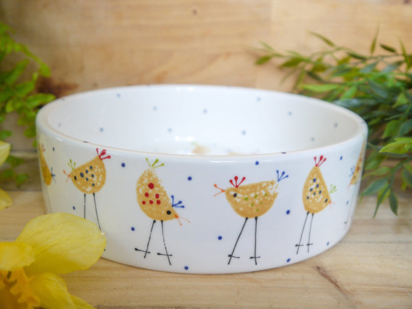 cheryl the cheeky chicken large pet bowl