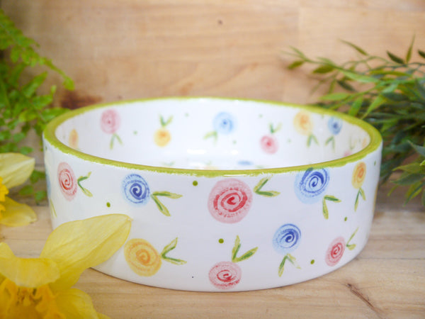 country cottage roses large pet bowl