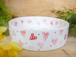 strawberry pink hearts large pet bowl
