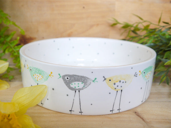 rita retro chicken large pet bowl