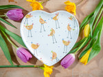cheryl the cheeky chicken large heart plate