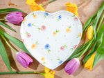 country cottage roses large heart plate