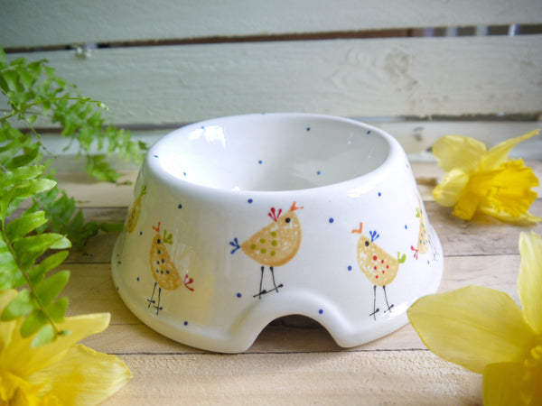 cheryl the cheeky chicken medium pet bowl