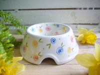 country cottage roses medium pet bowl