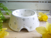 starburst grey medium pet bowl