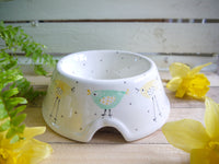 rita retro chicken medium pet bowl
