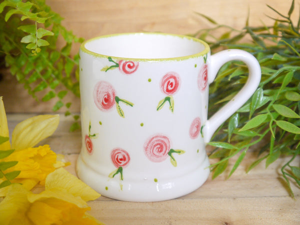 country cottage pink roses mummy mug