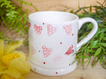 strawberry pink hearts mummy mug