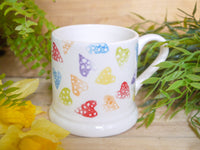 strawberry rainbow hearts mummy mug