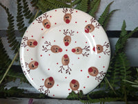 ralph the reindeer tea plate
