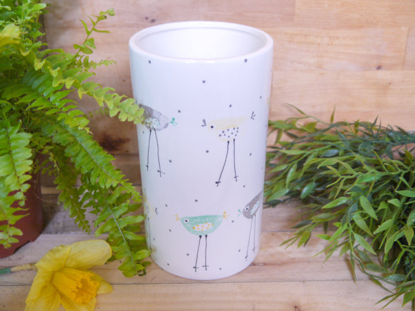 rita retro chicken straight vase