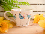 barney blue chicken tapered mug