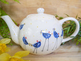 barney blue chicken large teapot