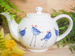 barney blue chicken small teapot
