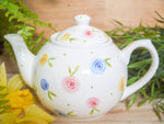 country cottage roses small teapot