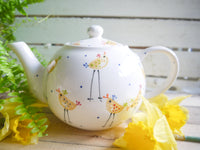 cheryl the cheeky chicken large teapot