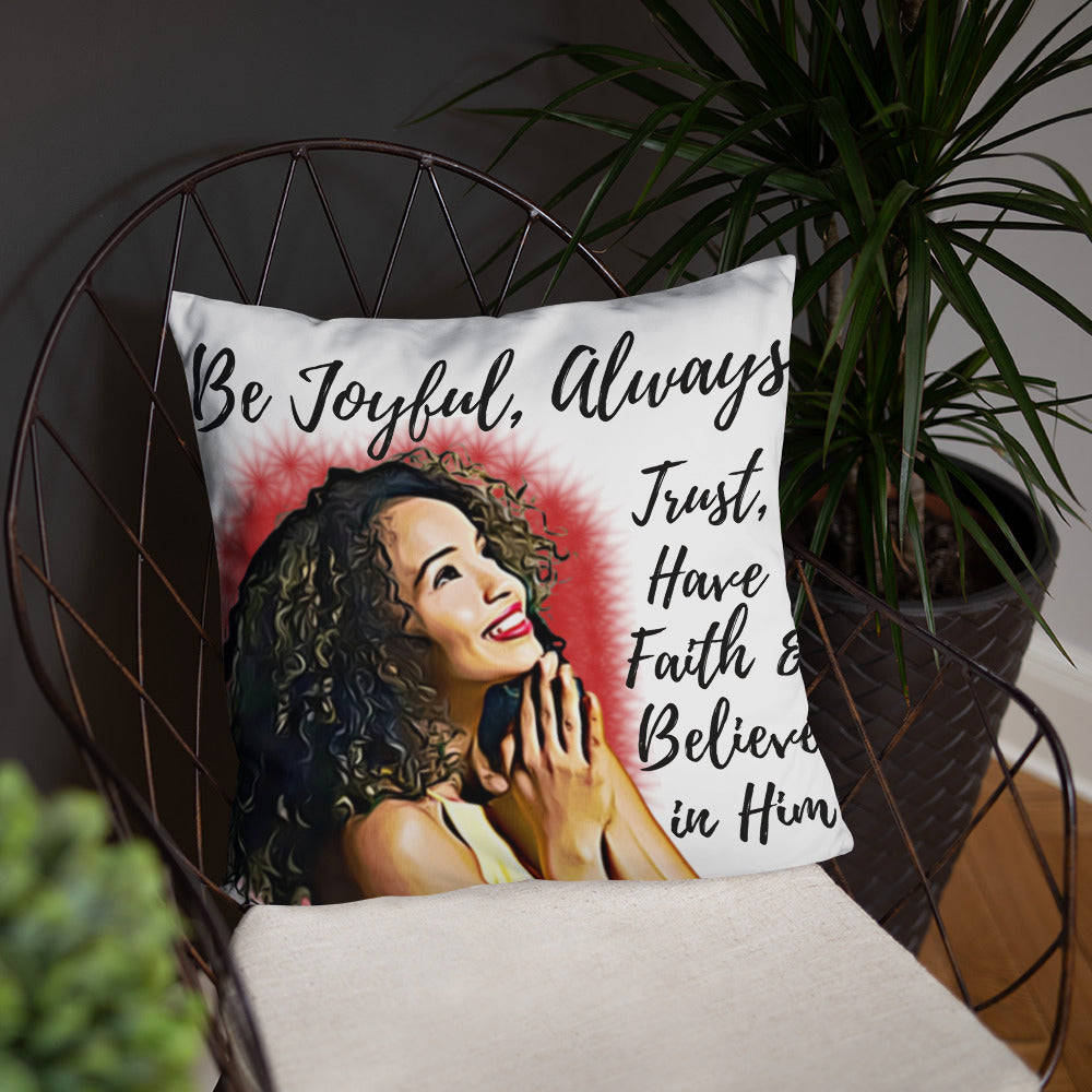 Joyful Basic Pillow