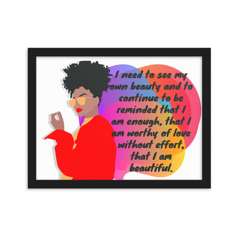 I Am Framed matte paper poster
