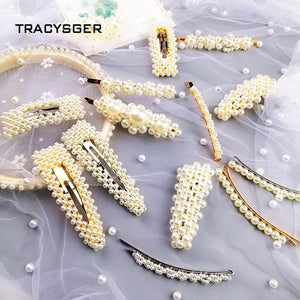 CY-84492 /TRACYSGER/ 2019 popular pearl cluster hair pin
