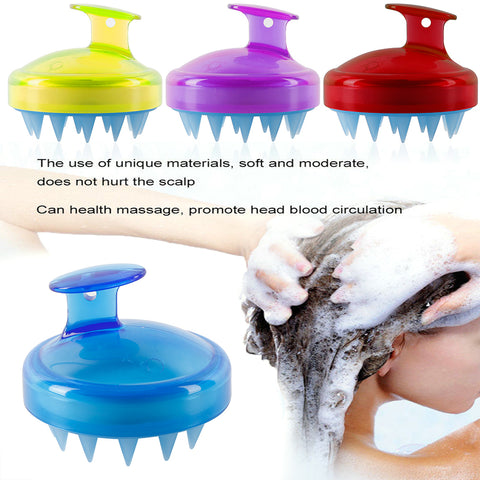 Drop Ship 1Pc Soft Hair Washing Brush escova de cabelo Silicone Shampoo Brush Wide Tooth Comb Head Body Scalp Massage Comb