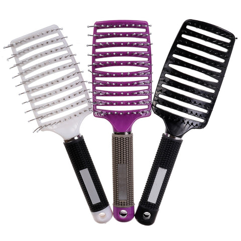 Hair Salon Heat-resistant Massage Combs Curved Hair Brushes Hairdressing Styling Vent Design Hair Tool