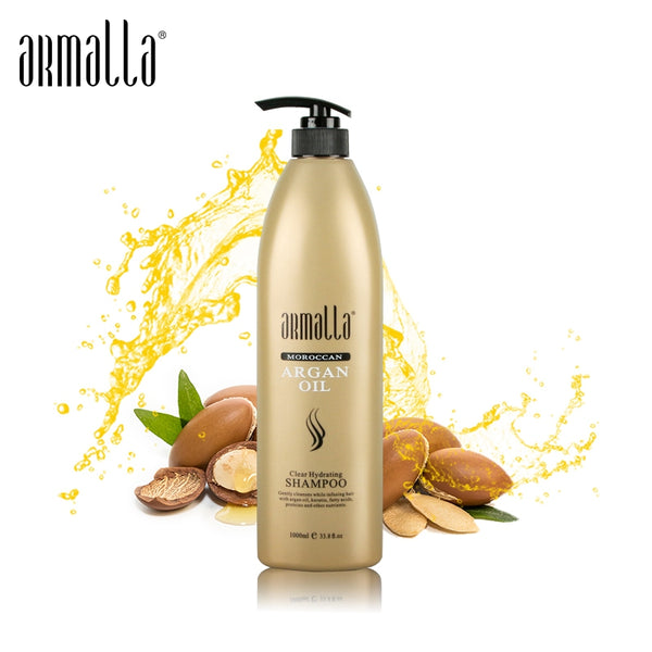 New Products Best Selling 1000ml Armalla Moroccan Professional Natural Dry Hair Shampoo Treatment Moisturizing Damage Products