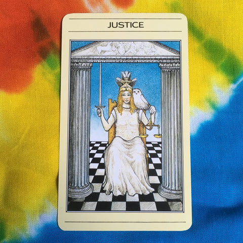 Mythic Tarot Justice