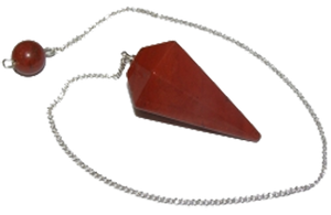 Red Jasper Faceted Dowsing Pendulum