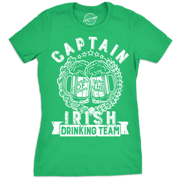 Captain Of The Irish Drinking Team Women's Tshirt