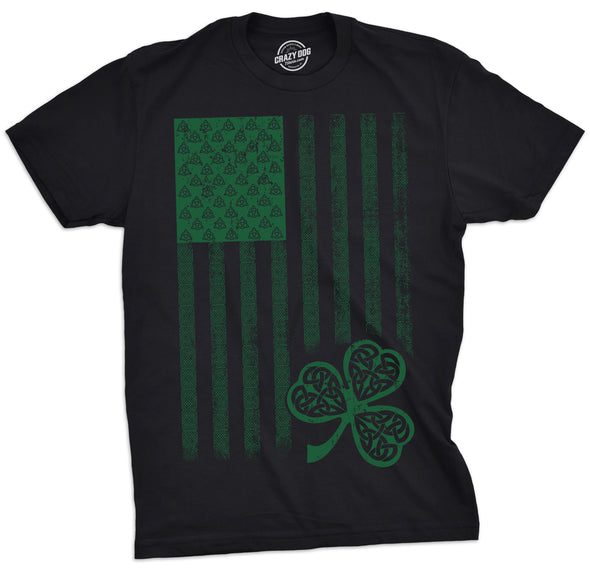 Celtic USA Flag Men's Tshirt