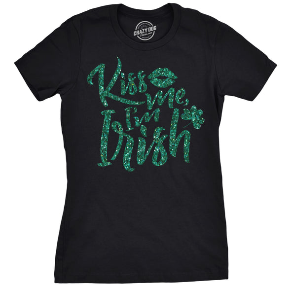 Kiss Me I'm Irish Women's Tshirt