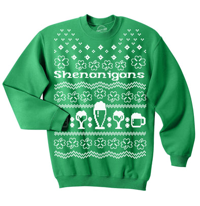 Shenanigans Ugly Sweater Crew Neck Sweatshirt