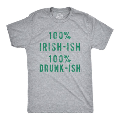 100% Irish 100% Drunk Men's Tshirt