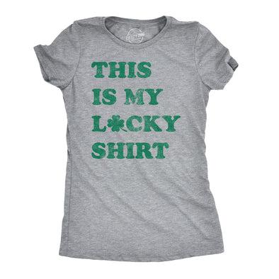 Womens This Is My Lucky Shirt Tshirt Funny St Patricks Day Tee
